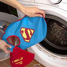 superman fabric baby bib