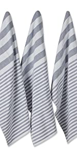 Blue towels, Blue dishtowels, Stripes, stripe towels, towel stripes,