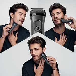 Braun Series 3 Proskin Shave&Style 3000BT, Afeitadora Eléctrica 3 en 1, para Hombre, con Recortadora de Precisión ...