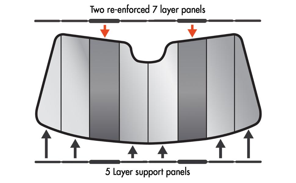 Intro-Tech Custom Premium Folding Auto Shade, Silver