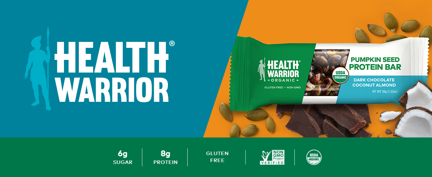 health warrior organic pumpkin seed protein bars
