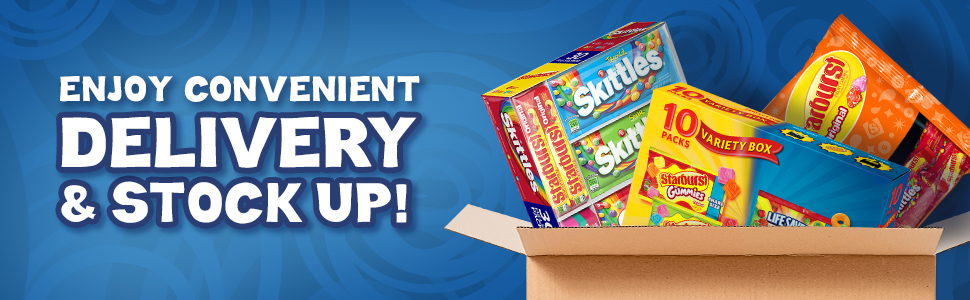 Enjoy convenient delivery and stock up wiht a variety of classic fruity favorites.