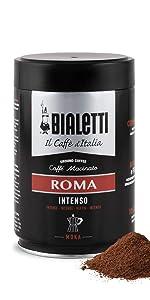 ビアレッティ BIALETTI イタリア エスプレッソ 直輸入 豆 細 挽き 濃いめ 缶 250g