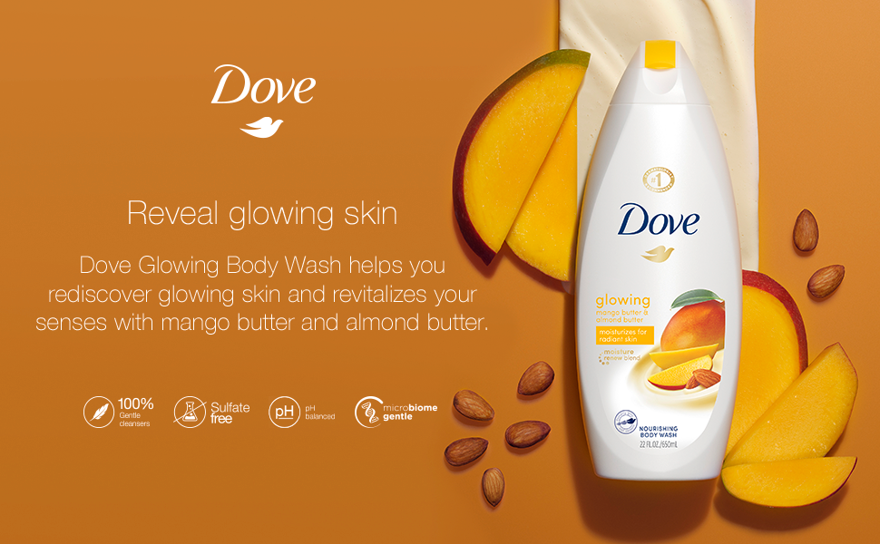 Dove Glowing product shot with texture