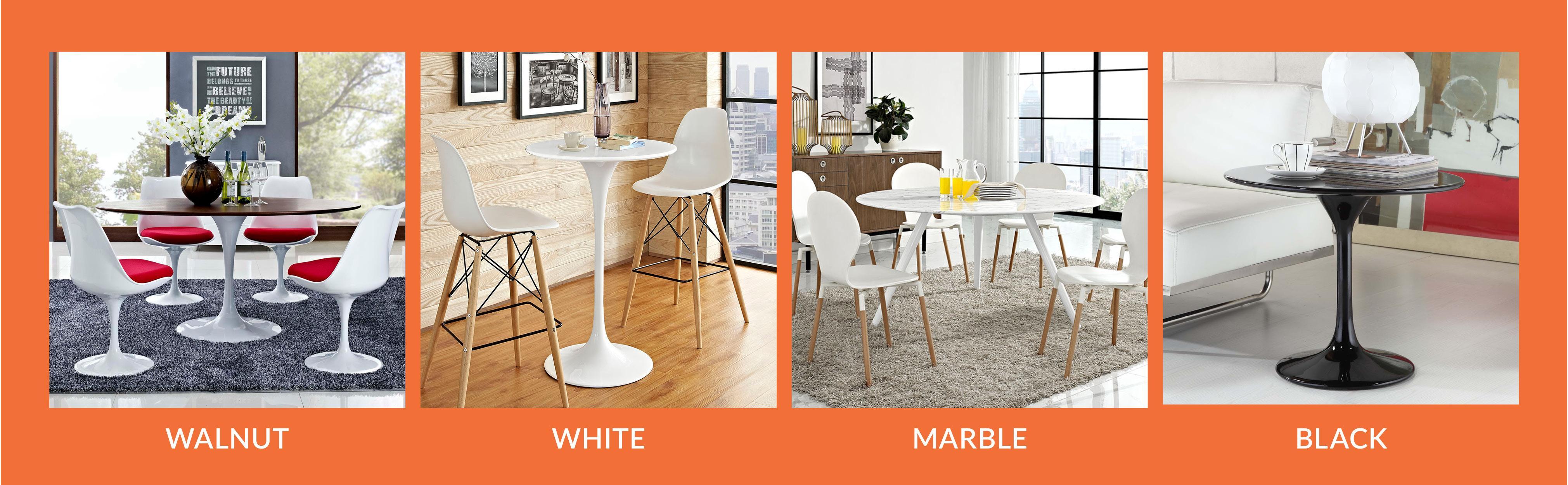 """Amazon Modway Lippa Coffee Table 36"""" White Kitchen & Dining"""
