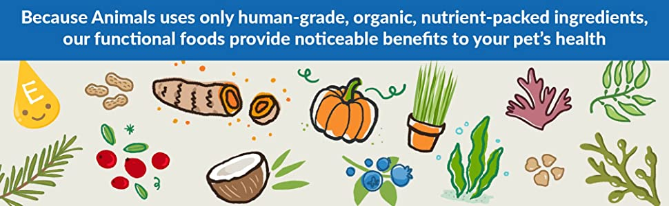 because animals uses only human-grade, organic, nutrient-packed ingredients