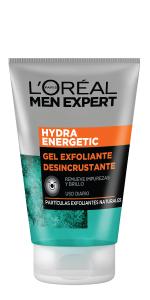exfoliante hombre, men expert, gel para la cara hombre, jabón cara hombre, limpieza hombre
