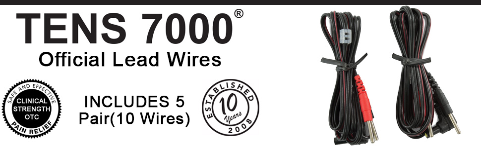 TENS 7000 lead wires