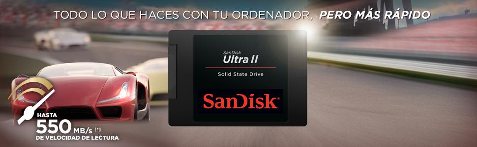 SanDisk Ultra II - Disco Duro sólido Interno SSD de 500 GB (SATA ...