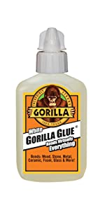 gorill glue original waterproof polyurethane all purpose expanding foaming glue white