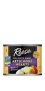 Reese Petite Artichoke Hearts, 7 Ounces (Pack of 12)