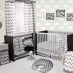 Bacati Ikat White/Grey Collection