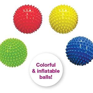 colorful bright flatable balls