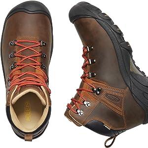 KEEN Mens Pyrenees Mid Height Waterproof Leather Hiking Boot
