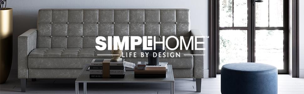 Amazon.com: Simpli Home AXCHLL-12 Hollander - Banco de ...