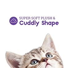 Petstages cuddle cat kitty destress unicorn cute toy soft plush easy to clean
