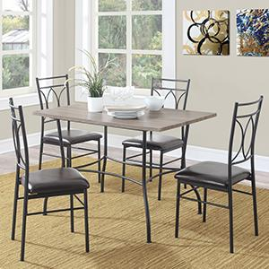 Boost Your Rustic Industrial Style! The Shelby 5 Piece Wood U0026 Metal Dining  Set ...