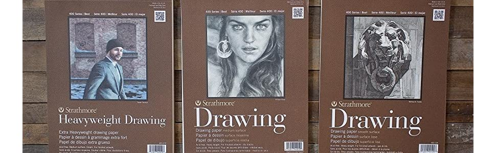 24 Sheets Smooth Surface 11x14 Wire Bound Strathmore 400-105 400 Series Drawing