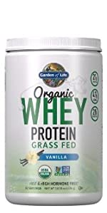 garden of life organic whey protein grass fed