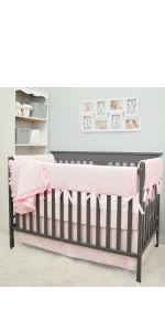 crib bedding set chenille velour