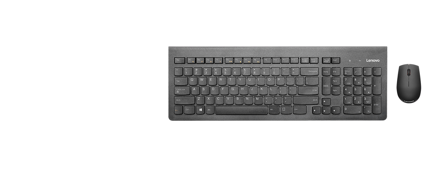 Full Size Black 1200 DPI Optical Mouse Island Key Design Left or Right Hand GX30N81775 2.4 GHz Nano USB Receiver Lenovo 510 Wireless Keyboard /& Mouse Combo