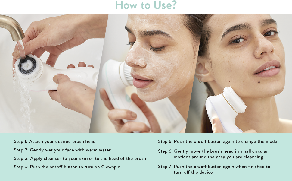 how to use a facial cleansing brush