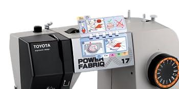 Toyota PowerFab17 PowerFabriQ Freiarm Nähmaschine mit Gleitfuß