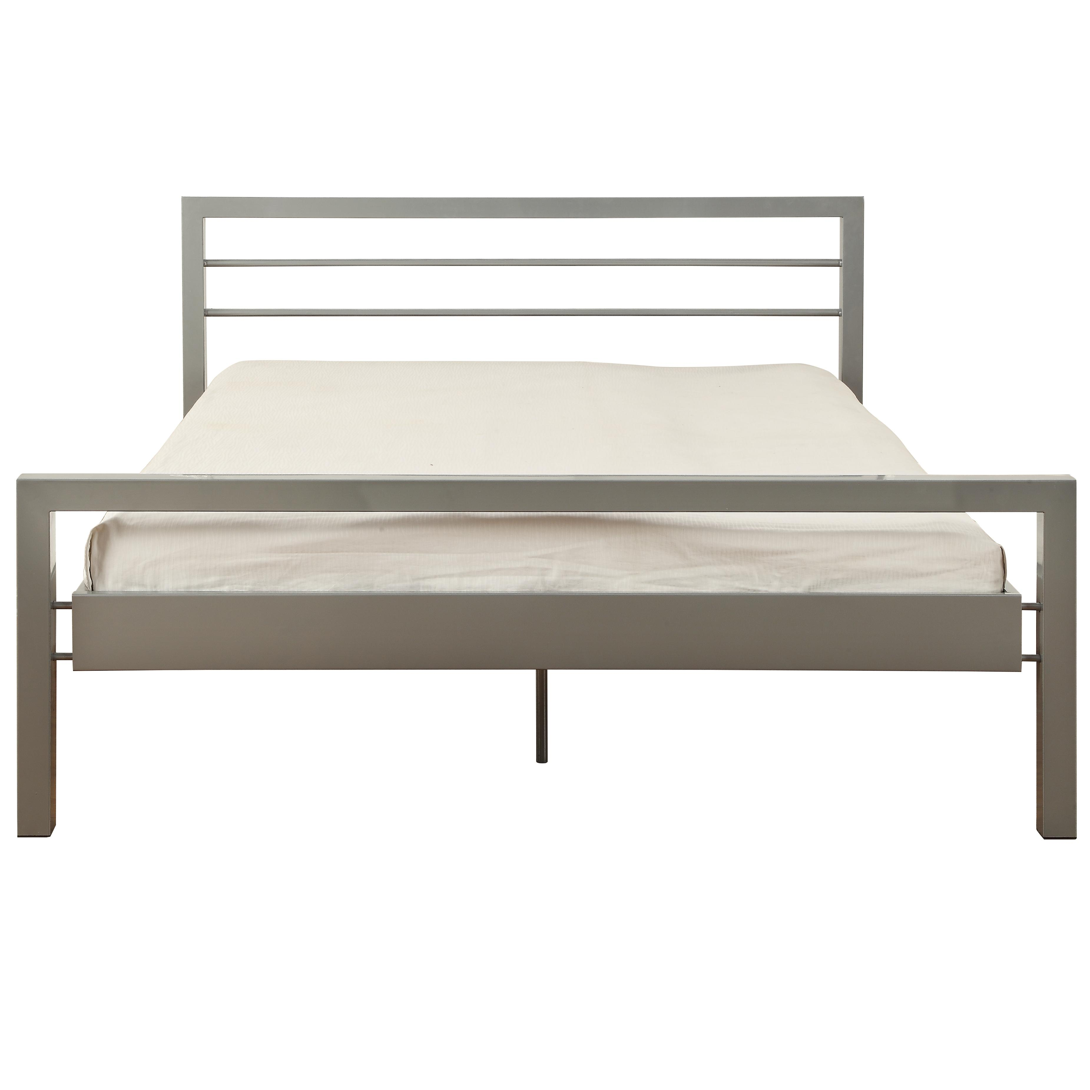 Metallbett silber 90x200  Atlantic Home Collection Elison Metallbett, silber, Double ...
