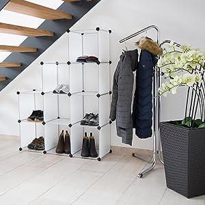 Versátil: el mueble zapatero de Levivo con 12 compartimentos