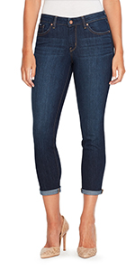 jessica simpson forever rolled cuff stretch denim slim fit denim jeans