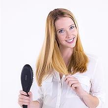 Perie de îndreptare cu cheratină, perie pentru îndreptarea părului
