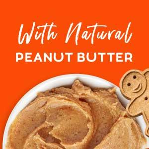 peanut butter soft chewy treats cookies rewards gingerbread man gentle teeth roasted chicken flavor