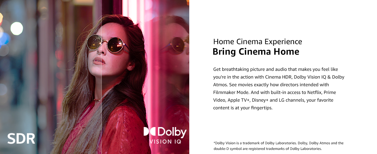 Dolby Vision IQ & Dolby Atmos