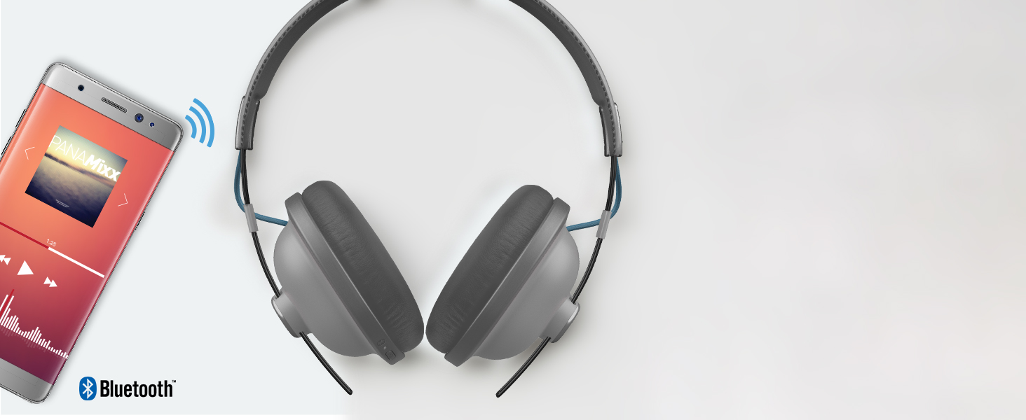 Wireless Over-Ear Headphones—RP-HTX80B-M bluetooth ready wifi easy sync