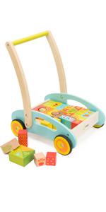 Amazon.com: Juguete de madera para aprender a andar para ...