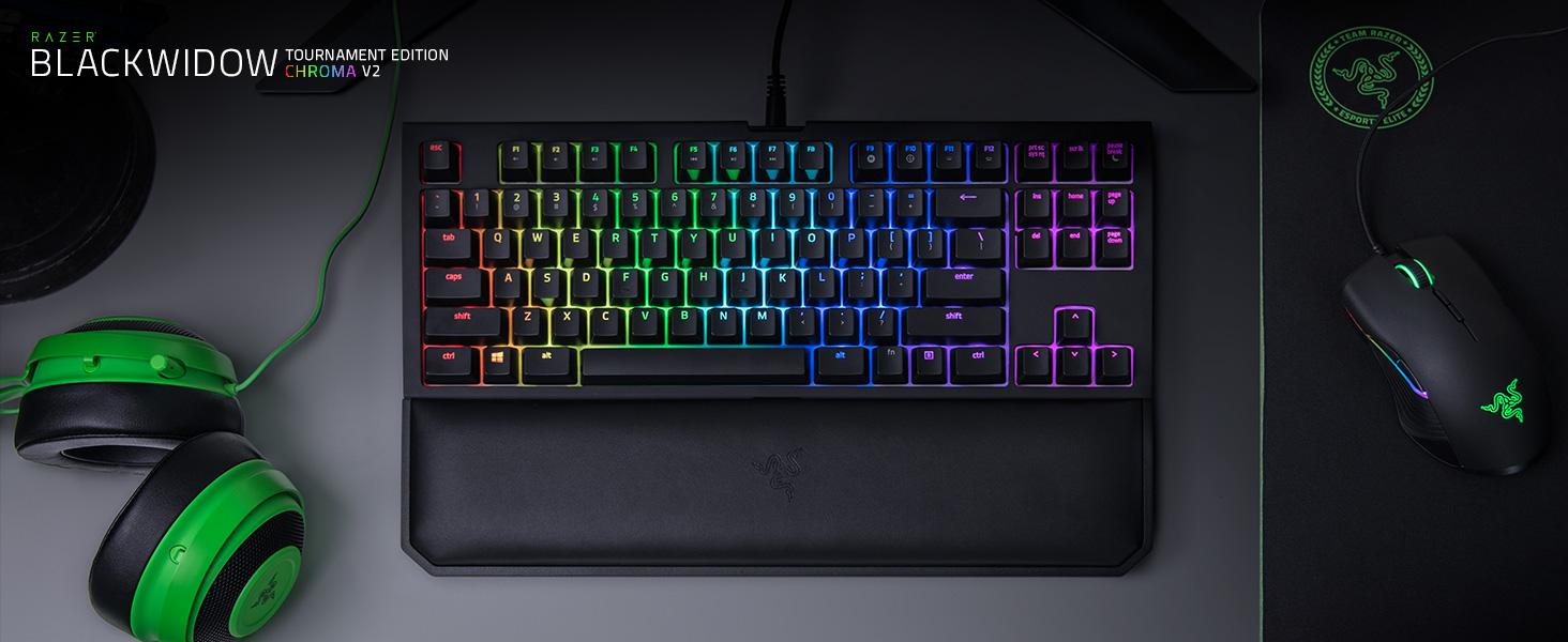 Razer Blackwidow Tournament Edition Chroma V2 Esports Keyboard X Te