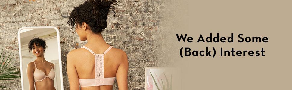 T back bra, front close bra, T shirt bra