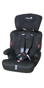Safety 1St Road Safe Seggiolino Auto 15-36 kg, Gruppo 2/3, Per Bambini da 3.5 a 12 Anni, Reclinabile e Facile da Installare (tramite cintura di sicurezza), Nero