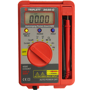C/DC Voltage, DC Current, Resistance, Continuity, Diode Test, Temperature
