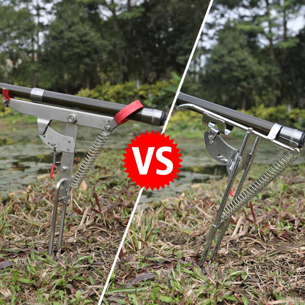 2 x stainless steel automatic lifting fishing pole holder for Spring loaded fishing rod holder