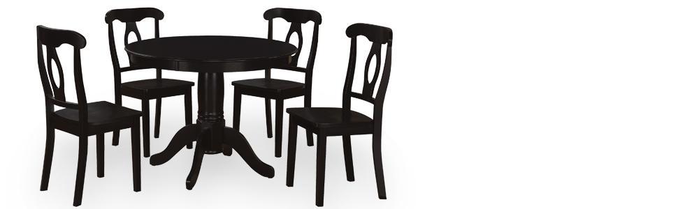 5 Piece Dining Set Pedestal Table