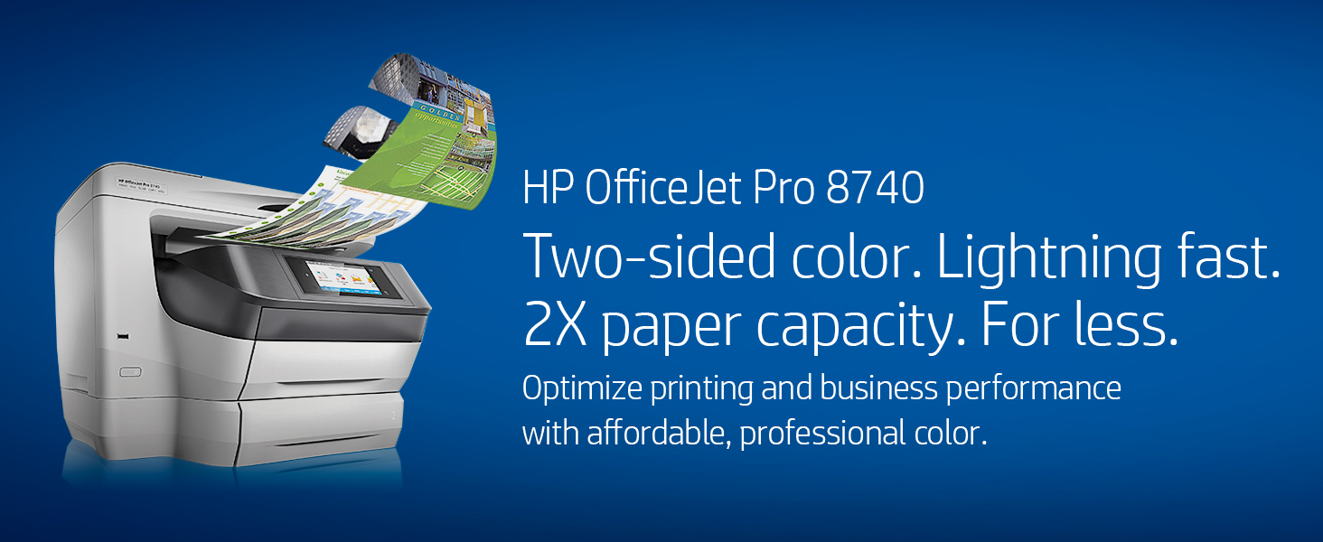 Hp Officejet Pro 8740 All In One Wireless Printer With 8500a Diagram Two Sided Professional Color High Speed Fast Low Cost Per Page Twice Paper Capacity