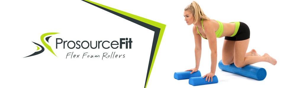 ProSource Flex Foam Rollers, Pilates, Exercise, Gym, Fitness, MFR, Trigger Point Roller