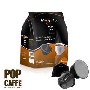 NESCAFE DOLCE GUSTO COMPATIBILE 160 capsule POP CAFFÈ E-GUSTO M. 1 INTENSO cialde