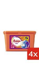 Robijn Color 3-in-1 Capsules voordeelverpakking 4 stuks voor gekeurde was