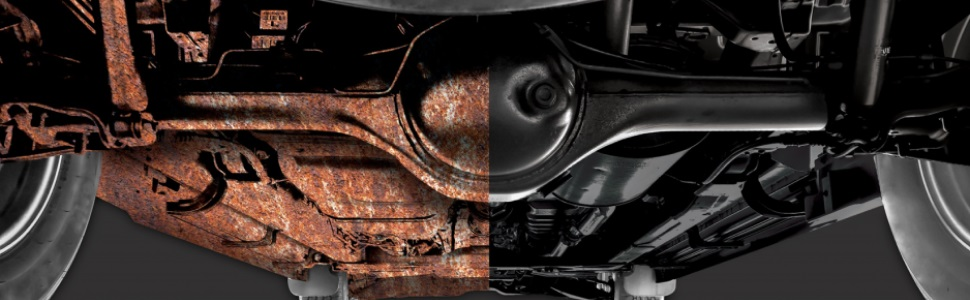 Seal away rust and prevent corrosion to vehicle underbodies and undercarriages