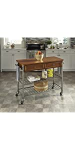 The Orleans Kitchen Island With Butcher Block Top