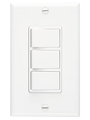 NuTone 66W Multi-Function Wall Control in White for Use with Ventilation Fans