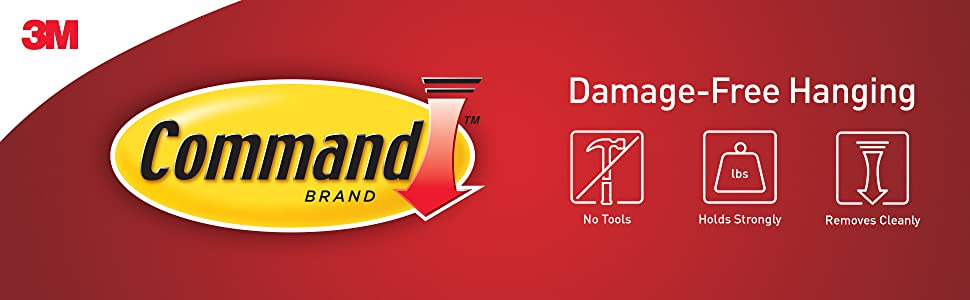 Command: Damage-Free Hanging, No Tools, Holds Strongly, Removes Cleanly