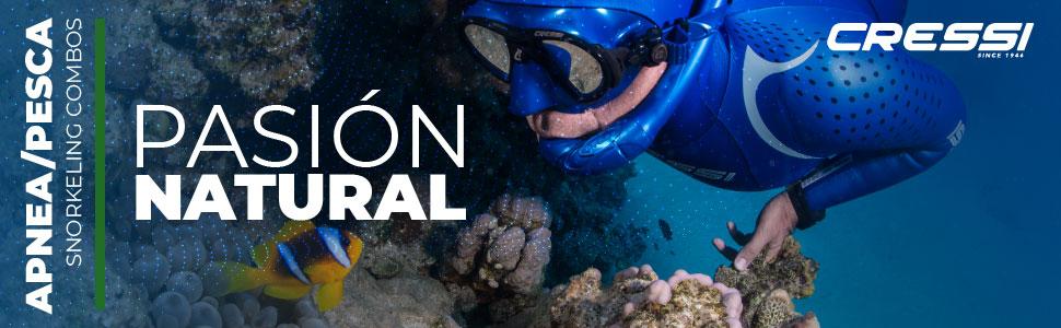 44//45 Cressi Gara Professional LD Bag Conjunto Profesional de Apnea Pesca Snorkel Grigio//Negro